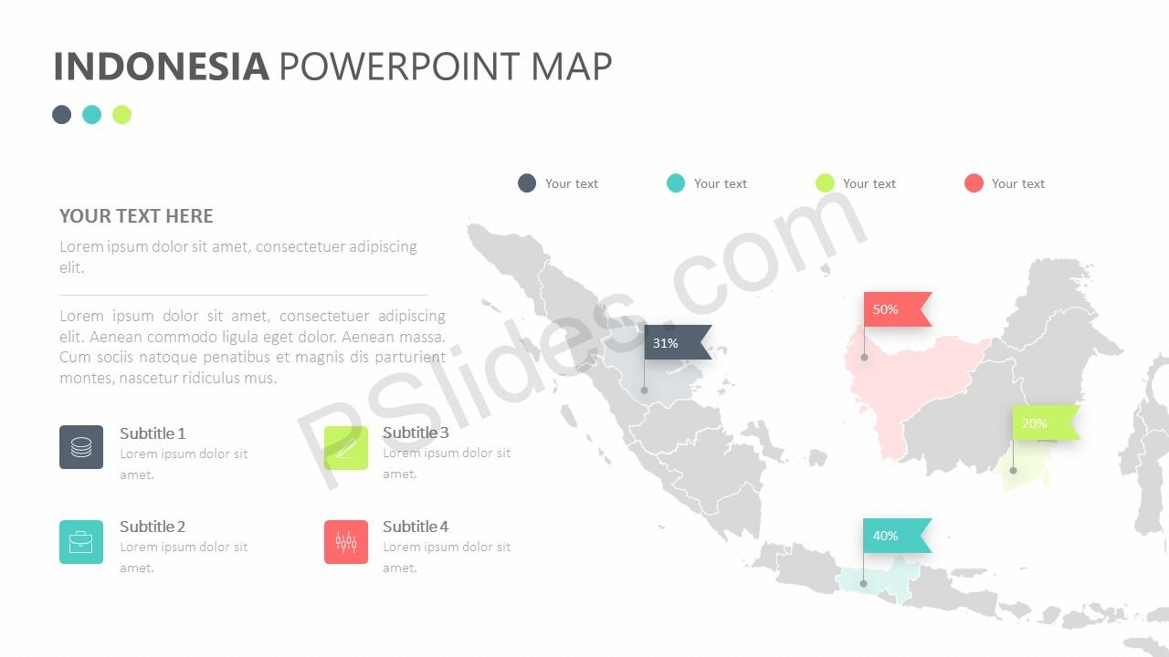 Indonesia PowerPoint Map Slide 1