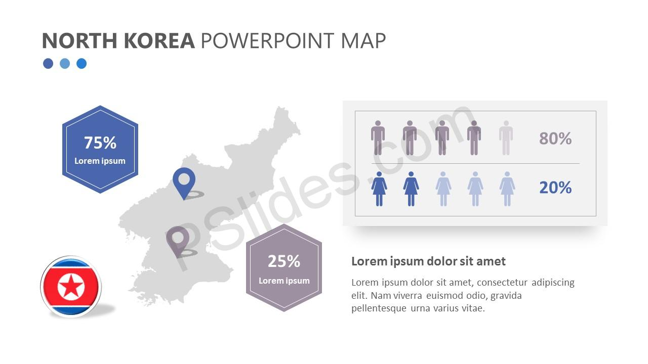 North Korea PowerPoint Map (1)