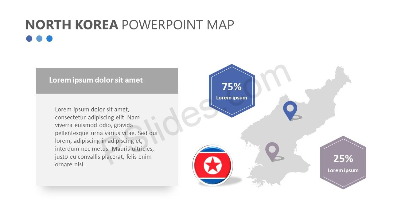 North Korea PowerPoint Map (2)