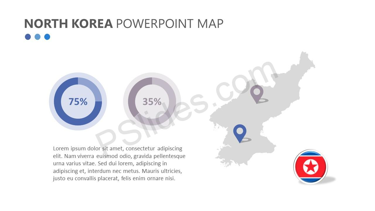 North Korea PowerPoint Map (5)