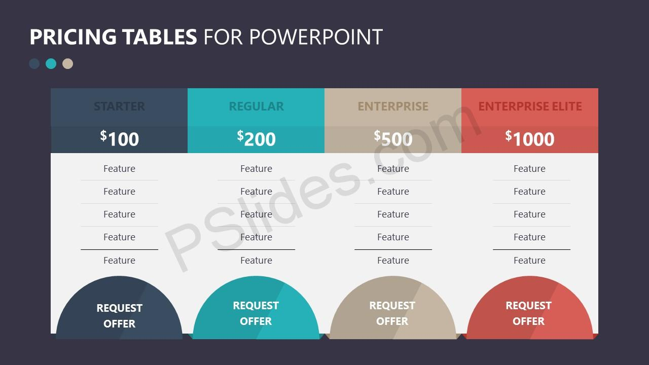 Pricing Tables for PowerPoint Slide 2
