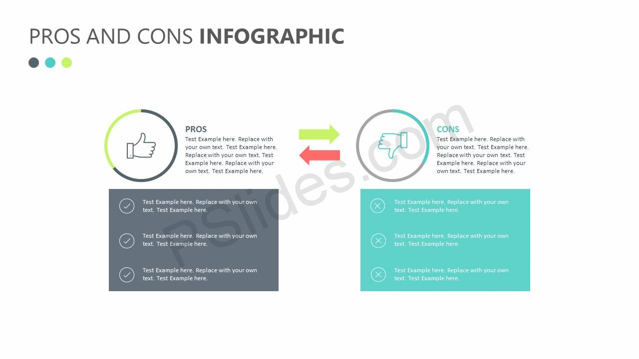 Pros and Cons Infographic Slide 1