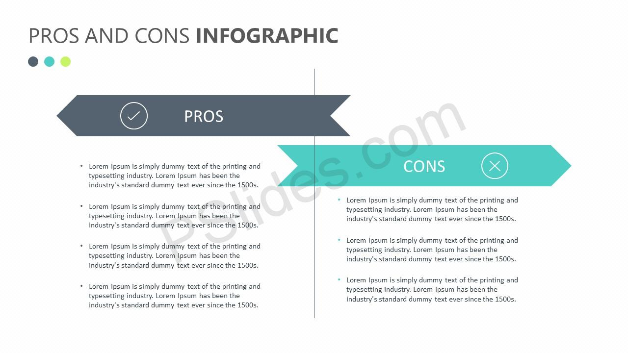 Pros and Cons Infographic Slide 3