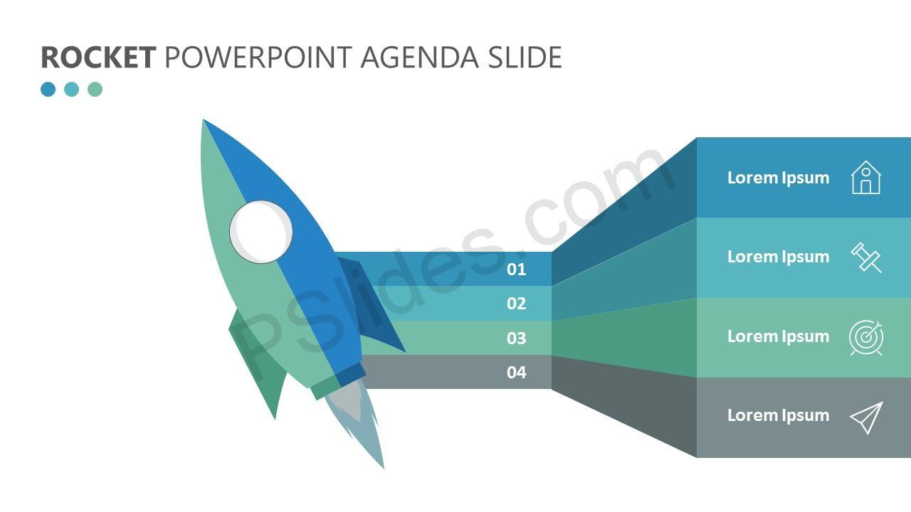Rocket PowerPoint Agenda Slide (3)