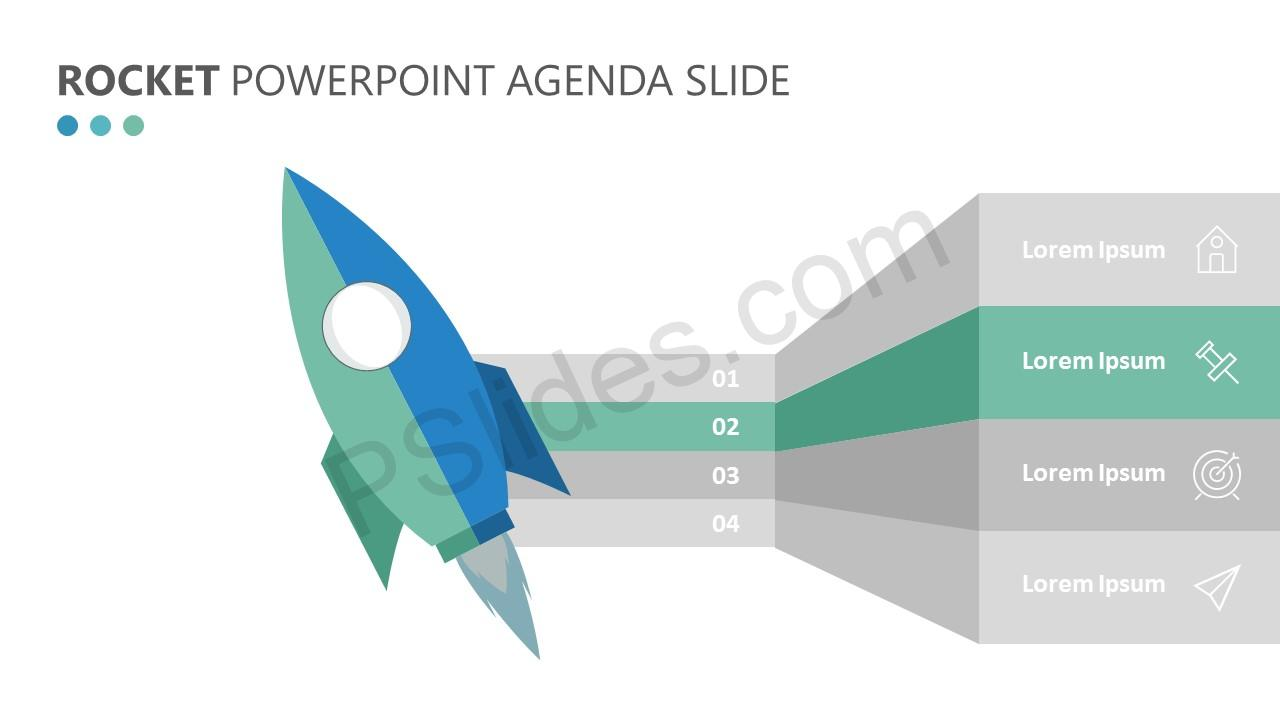 Rocket PowerPoint Agenda Slide (4)
