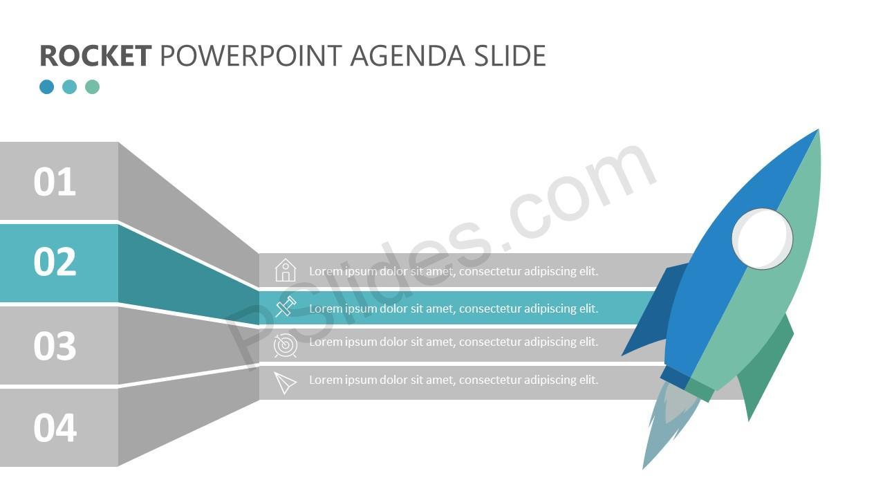 Rocket PowerPoint Agenda Slide (5)