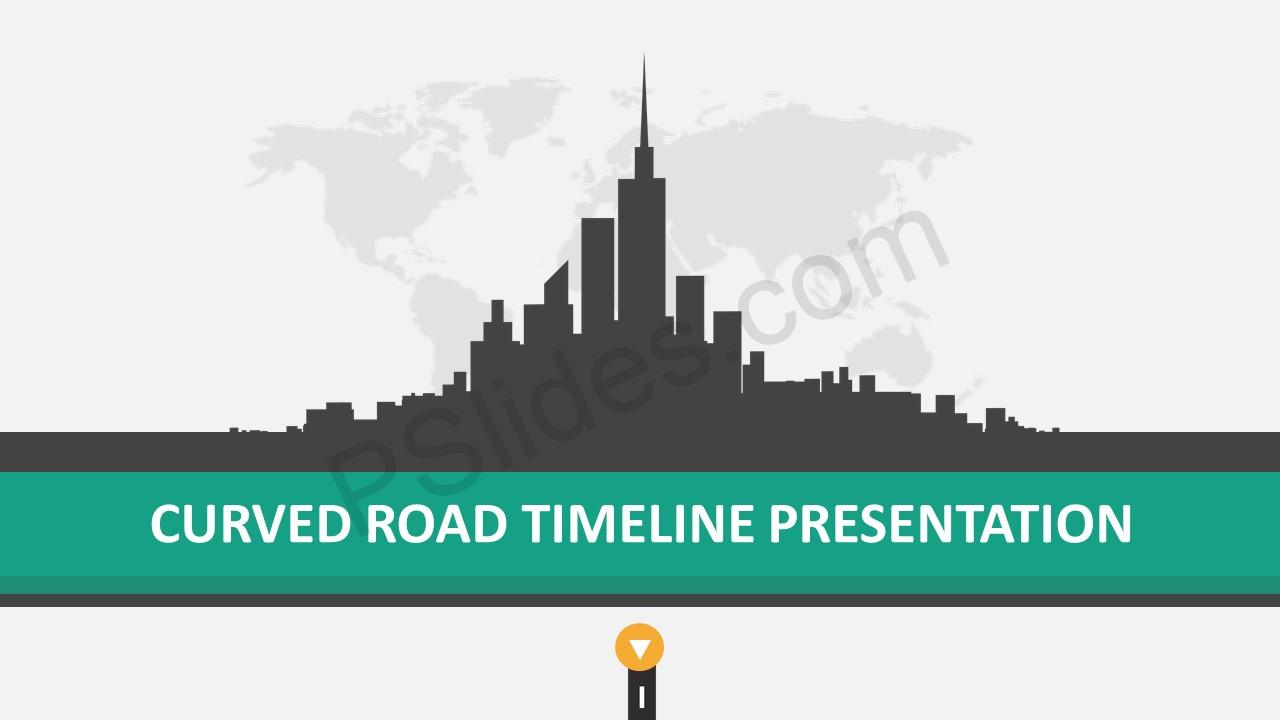 Road Timeline PowerPoint Template Slide 1