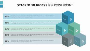 Stacked 3D Blocks for PowerPoint Slide 1