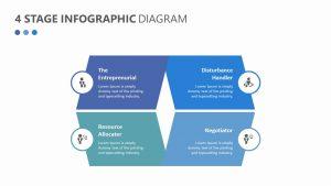 4 Step Infographic Diagram
