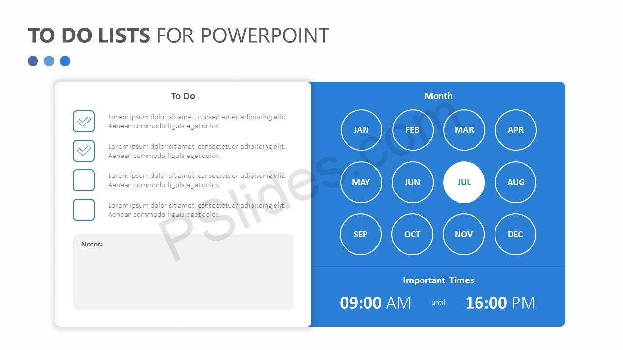 To Do Lists for PowerPoint Slide 3