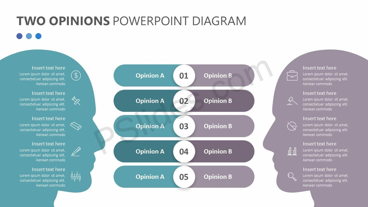 Two Opinions PowerPoint Diagram Slide 3