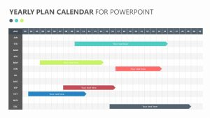 Yearly Plan Calendar for PowerPoint Slide 1