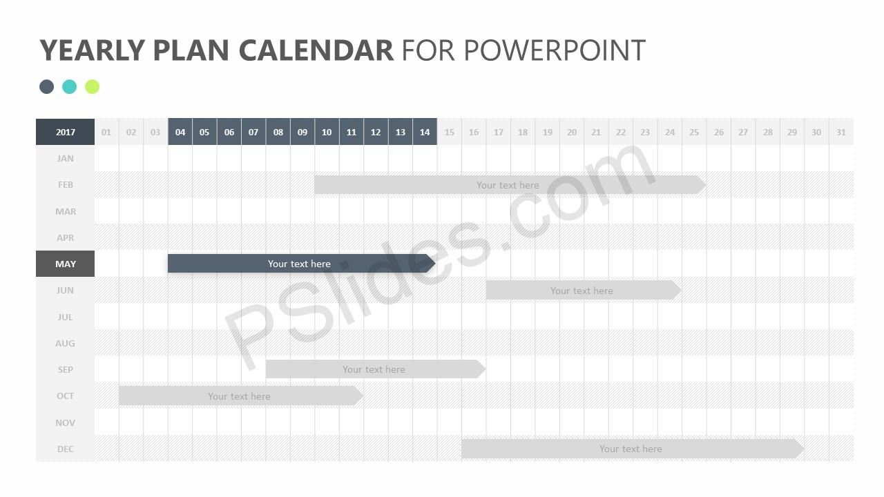Yearly Plan Calendar for PowerPoint Slide 2