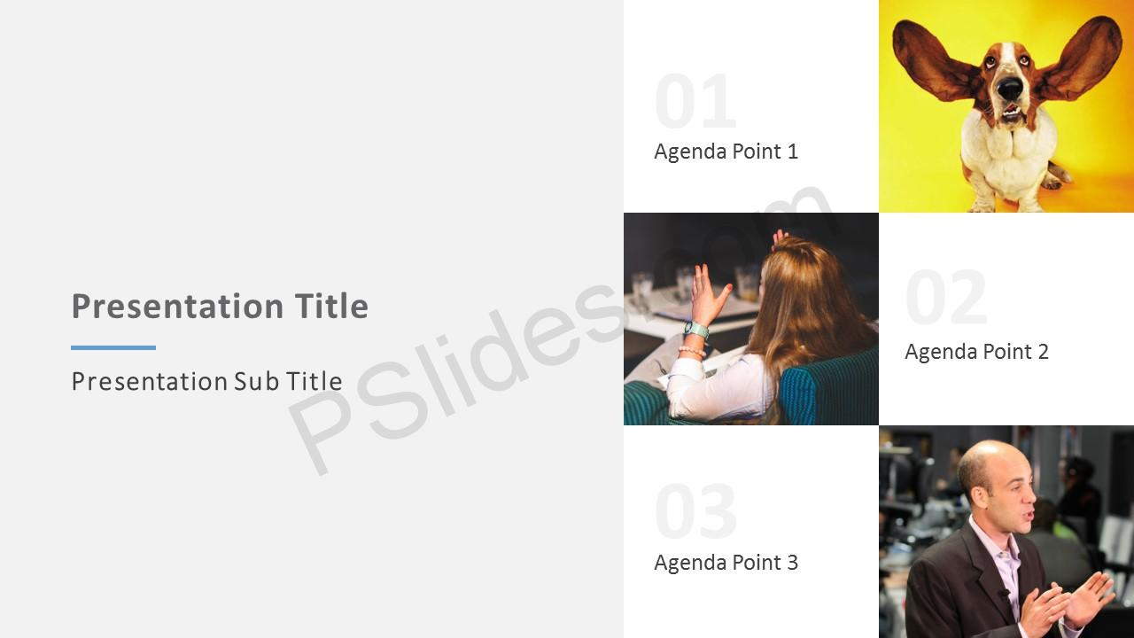 3 Point PowerPoint Agenda