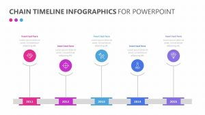 Chain Timeline Infographics for PowerPoint