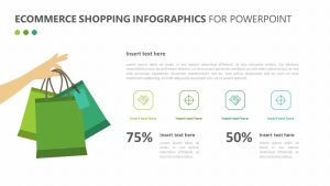 Ecommerce Shopping Infographics for PowerPoint