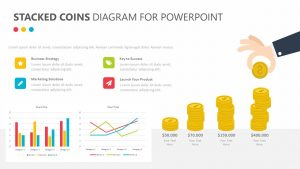 Stacked Coins Diagram for PowerPoint