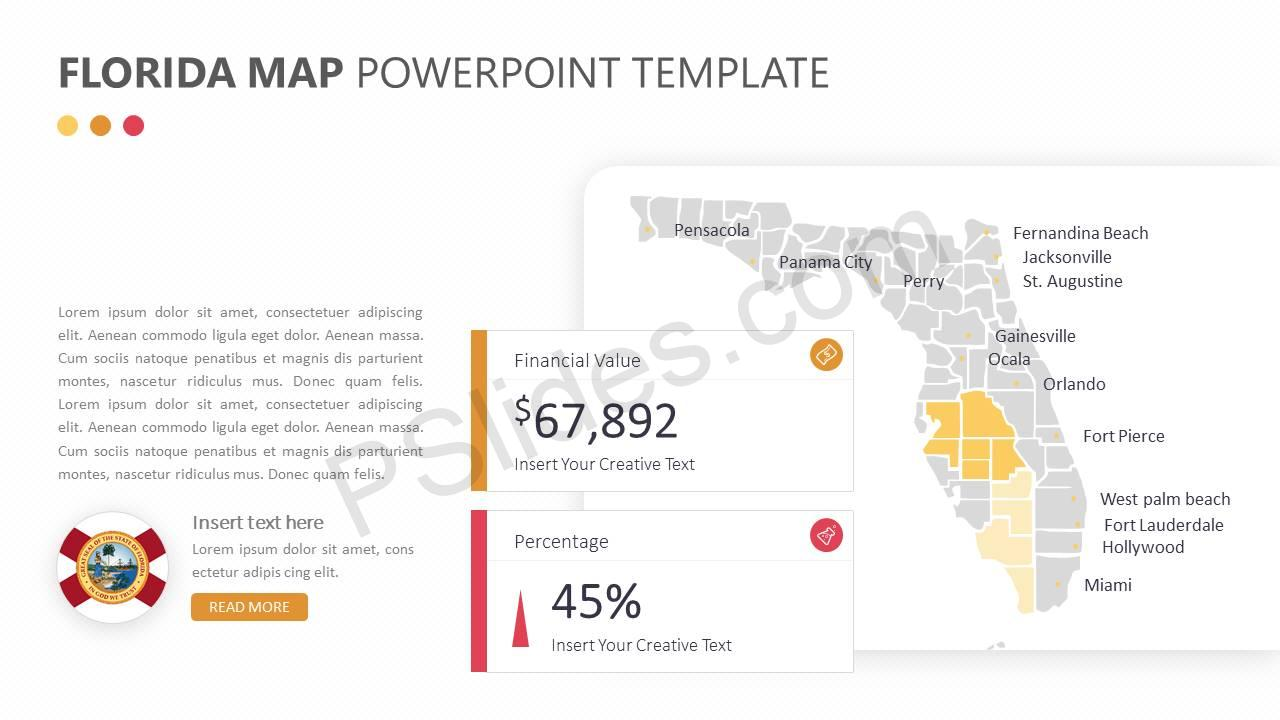 Florida Map PowerPoint Template