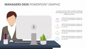 Free Managers Desk PowerPoint Graphic