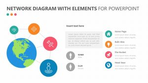 Network Diagram With Elements for PowerPoint