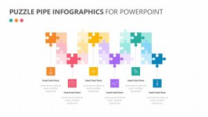 Puzzle Pipe Infographics For PowerPoint