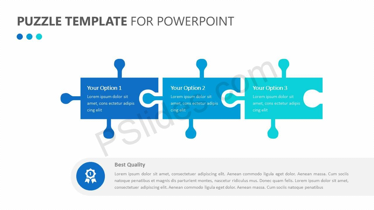 Puzzle Template For Powerpoint Pslides