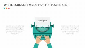 Free Writer Concept Metaphor for PowerPoint