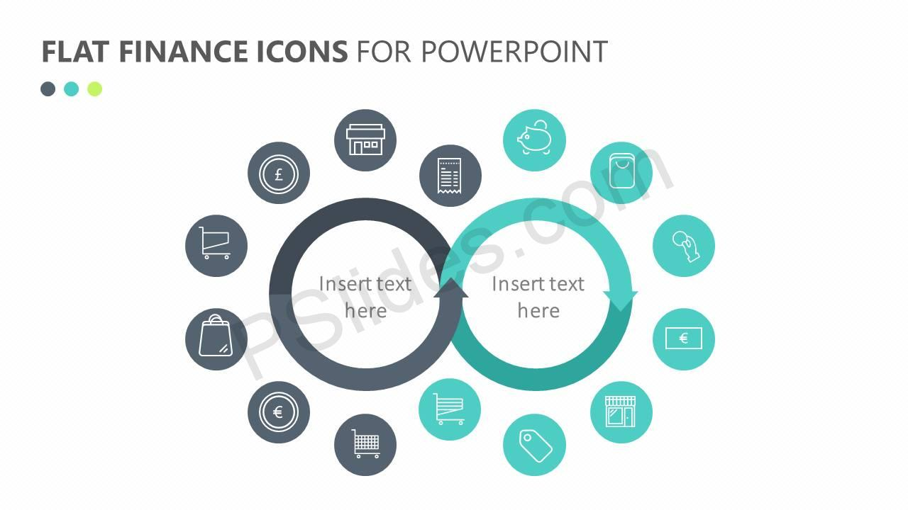 Flat Finance Icons Slide 2