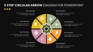 8 Step Circular Arrow Diagram for PowerPoint
