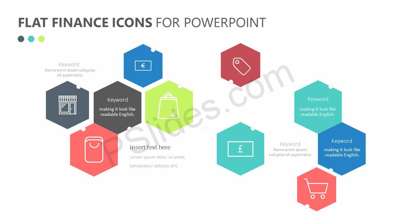 Flat Finance Icons Slide 3