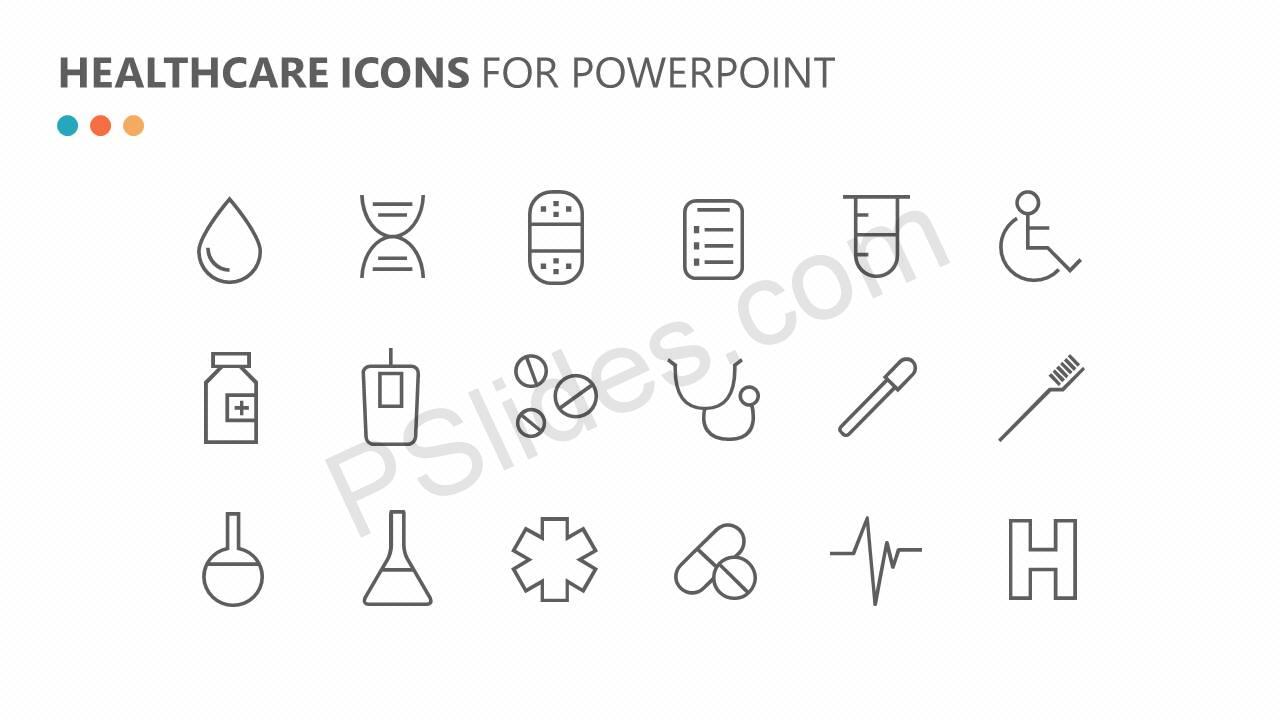 Flat Healthcare Icons Slide 4