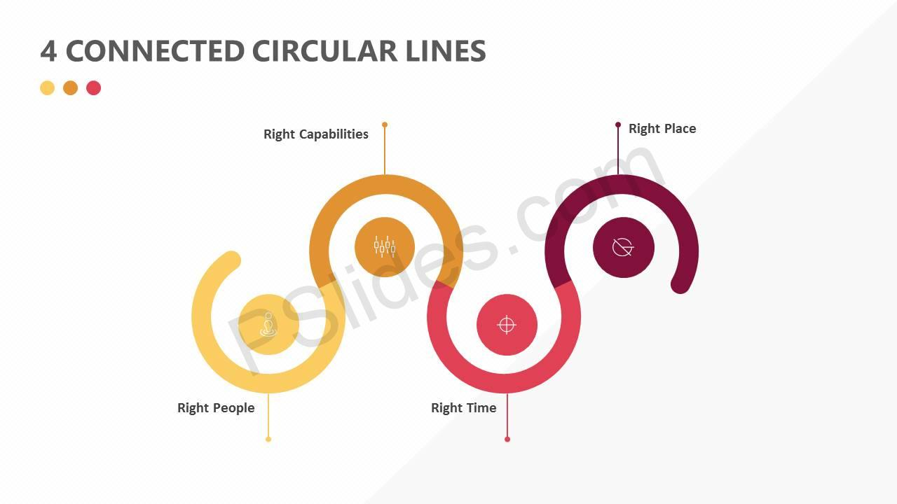4 Connected Circular Lines Slide1
