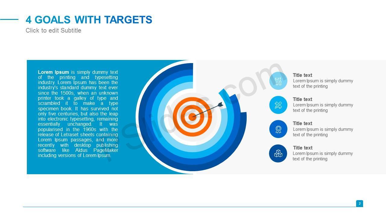4 Goals With Targets Slide1
