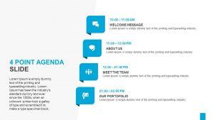 4 Point Agenda Slide