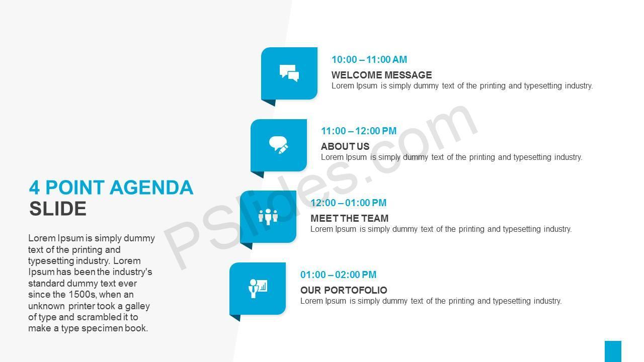 4 Point Agenda Slide Slide1