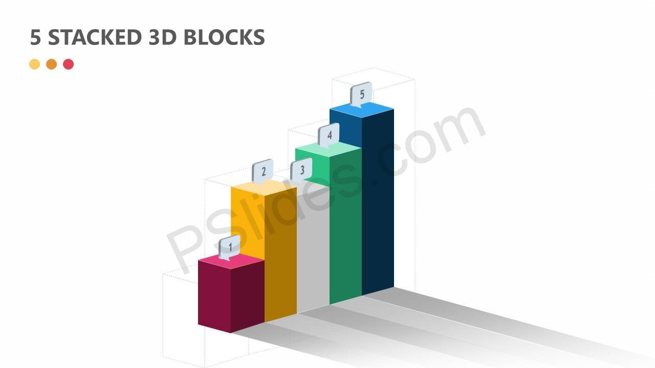 5 Stacked 3D Blocks Slide1