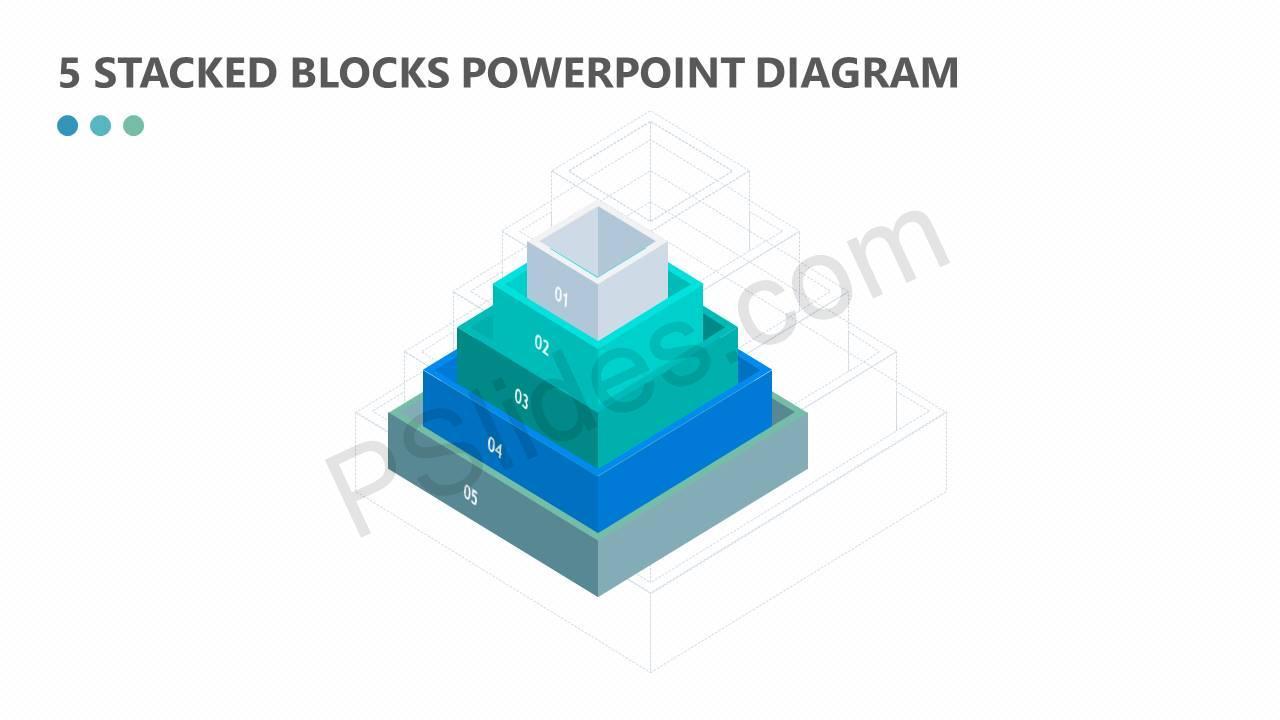 5 Stacked Blocks PowerPoint Diagram Slide1