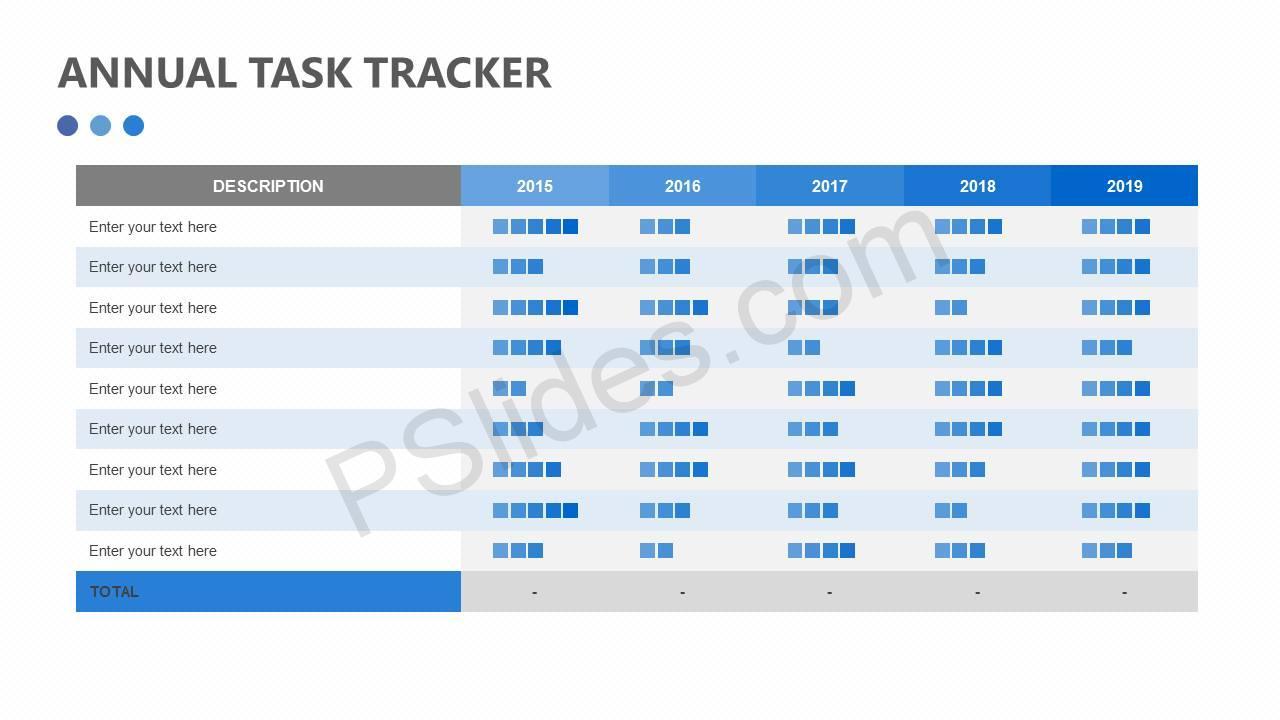 Annual Task Tracker Slide1