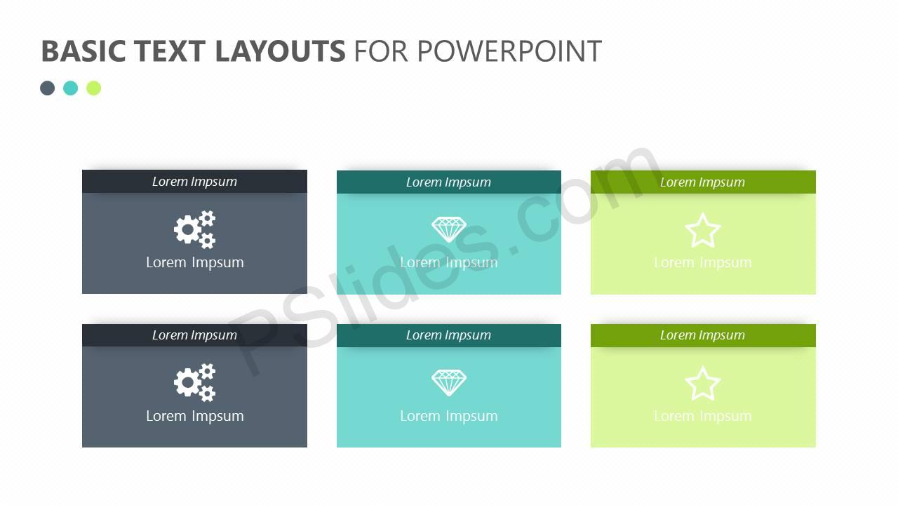 Basic Text Layouts for PowerPoint Slide1