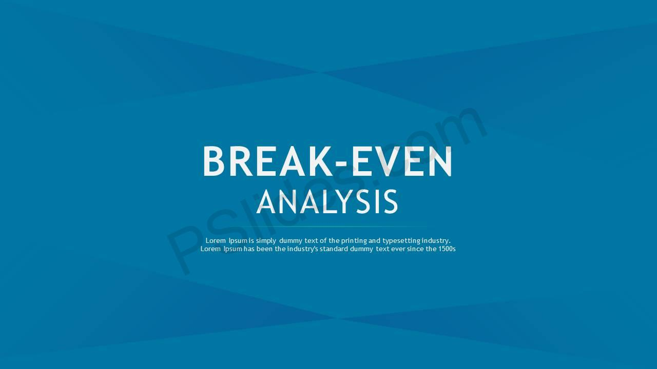 Break Even Analysis Slide1