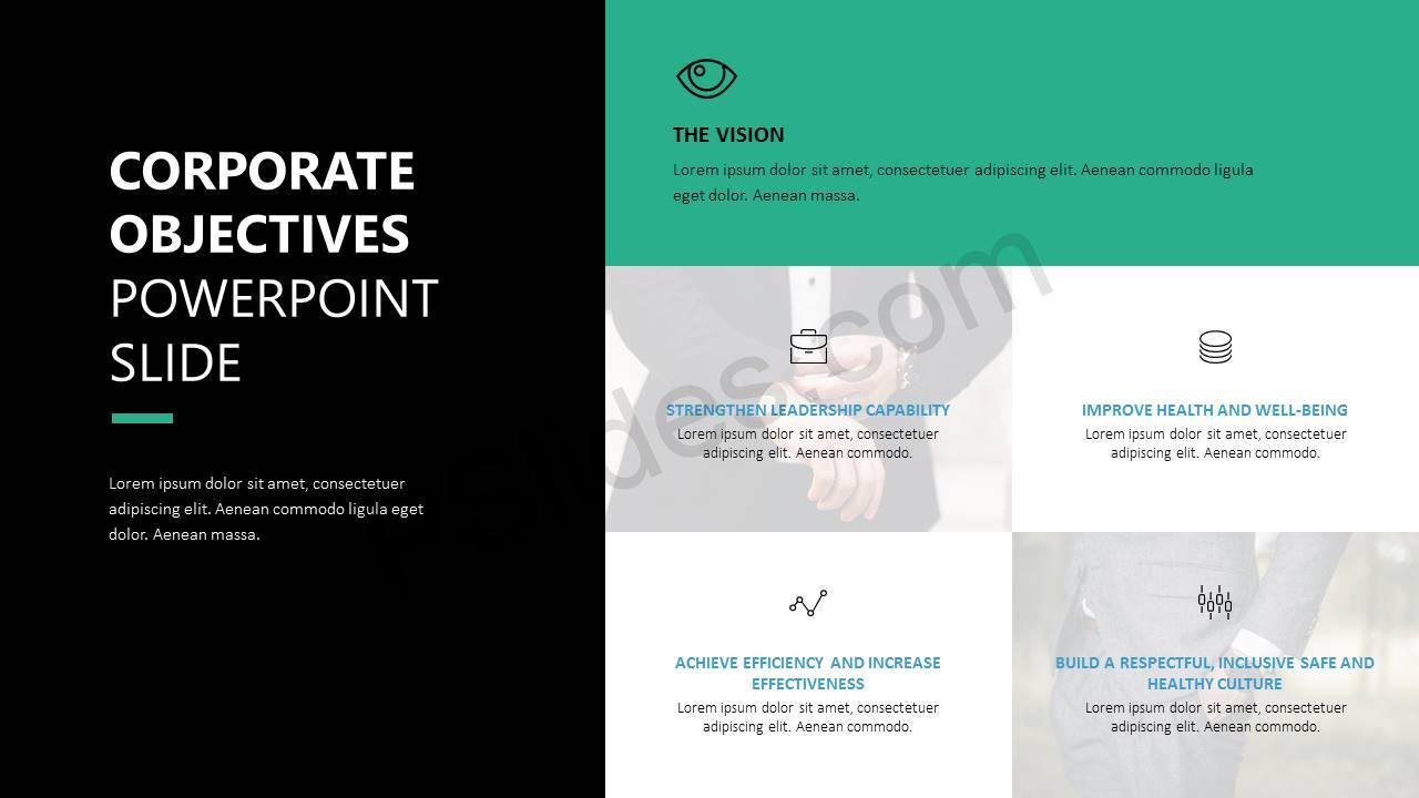 Corporate Objectives PowerPoint Slide Slide1