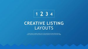 Creative Listing Layouts