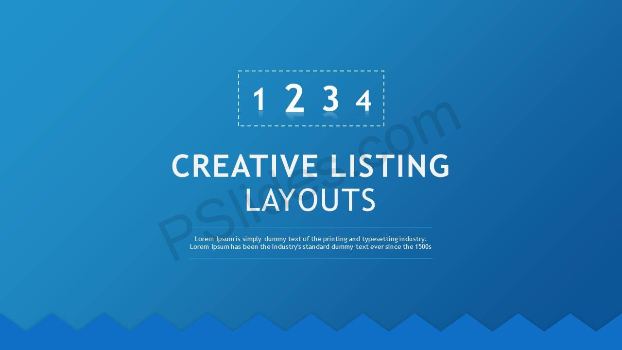Creative Listing Layouts Slide1