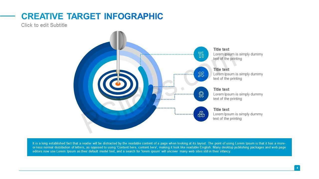 Creative Target Infographic Slide1