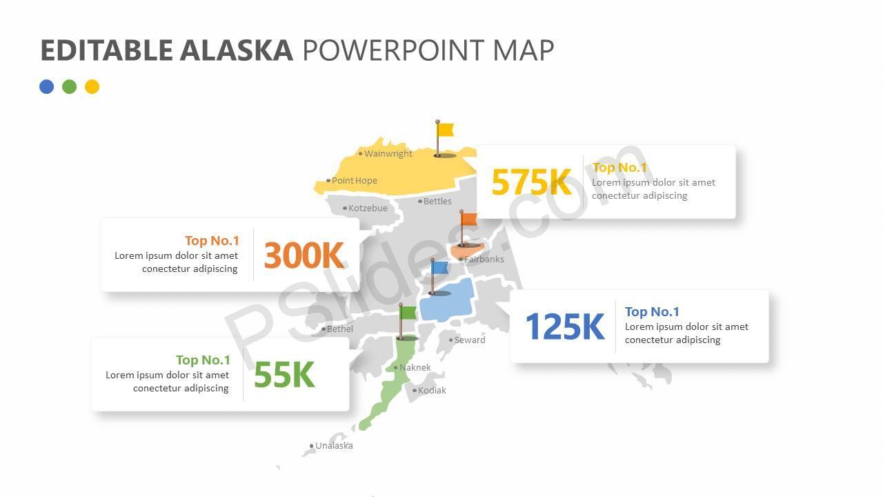 Editable Alaska PowerPoint Map Slide1