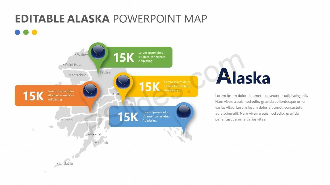 Editable Alaska PowerPoint Map Slide2