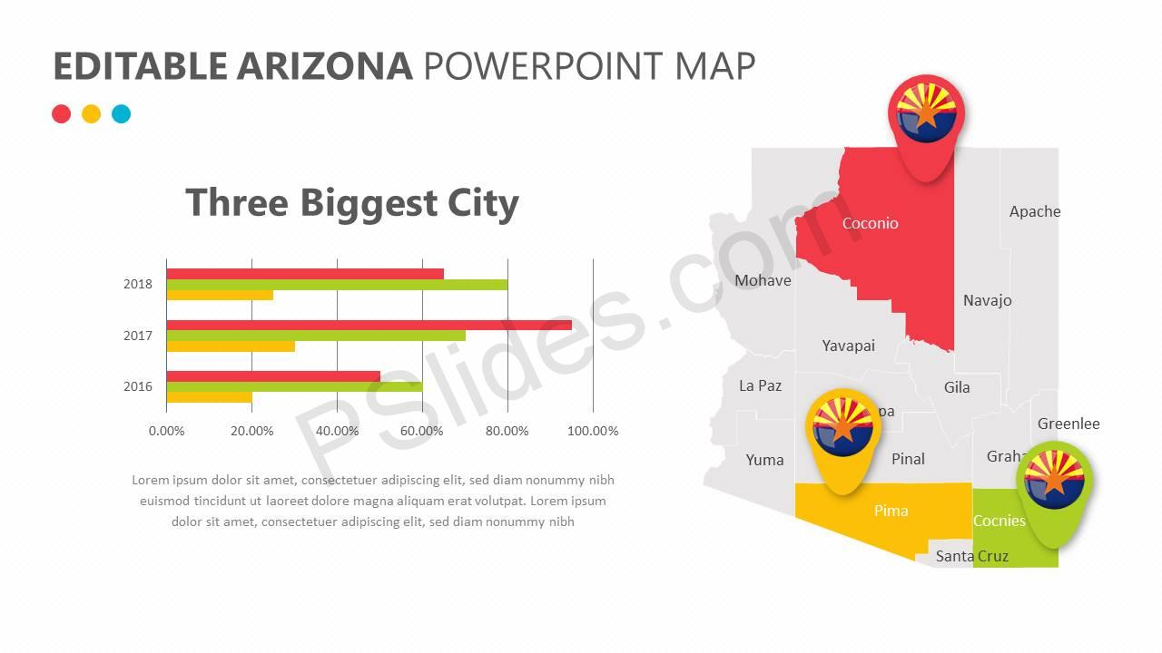 Editable Arizona PowerPoint Map Slide2