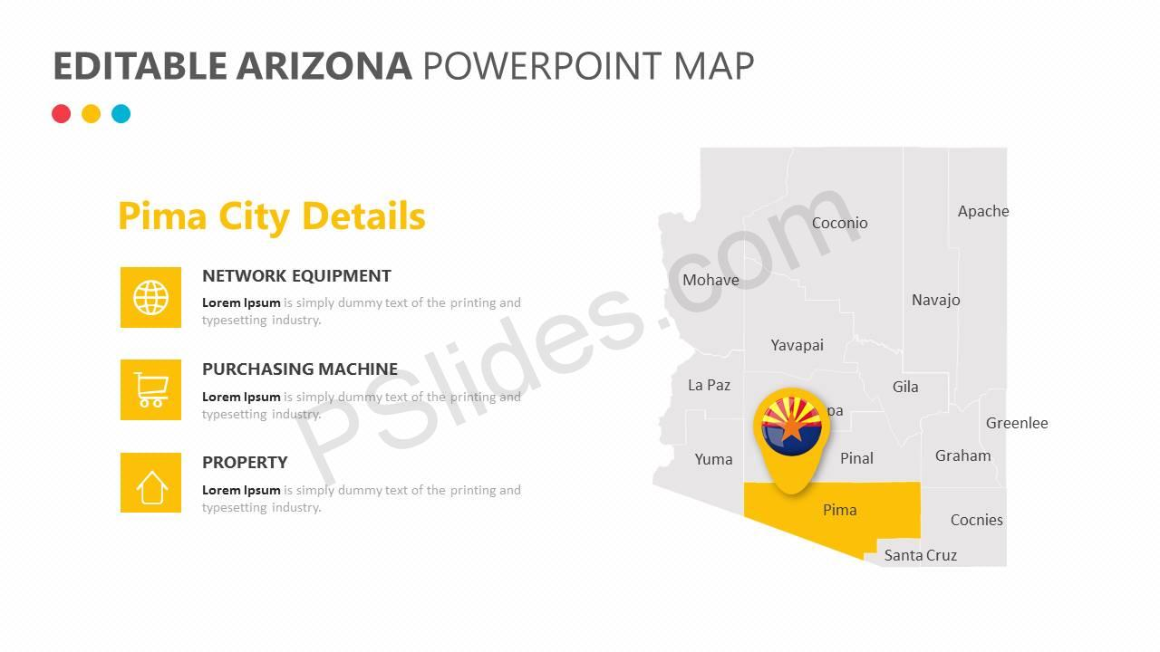 Editable Arizona PowerPoint Map Slide3