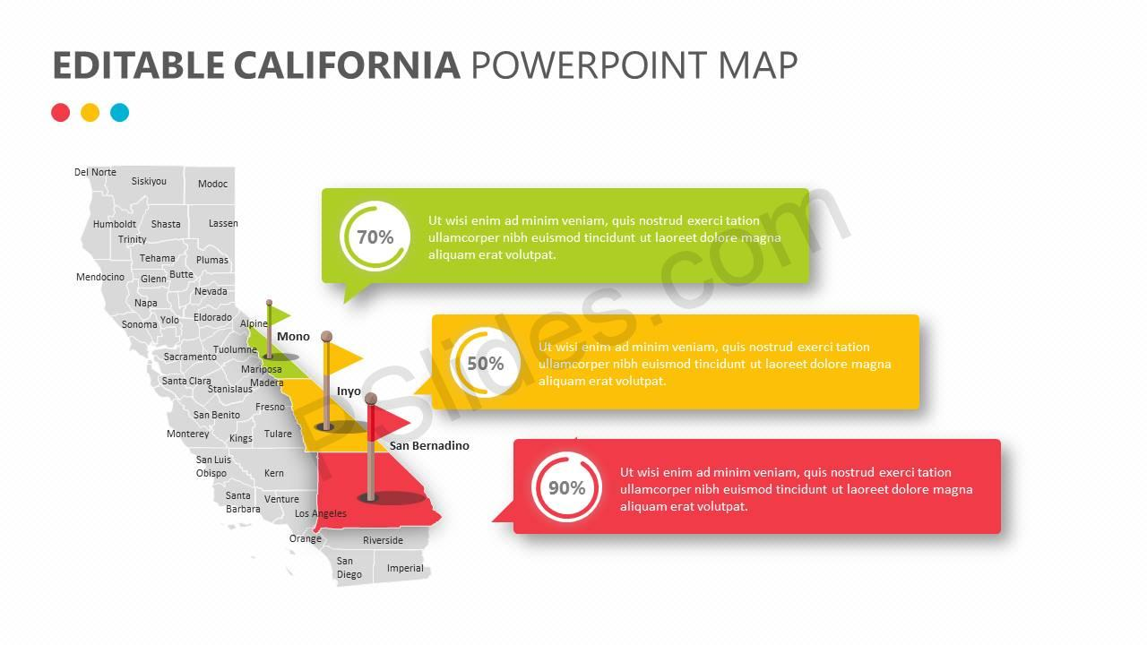 Editable California PowerPoint Map Slide2
