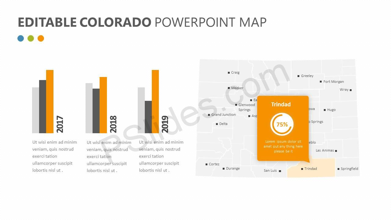 Editable Colorado PowerPoint Map Slide3